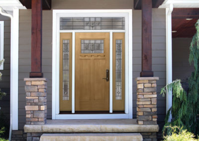 Pine Entry Door with Sidelights