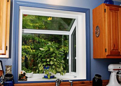 Garden Window with Plant in Kitchen