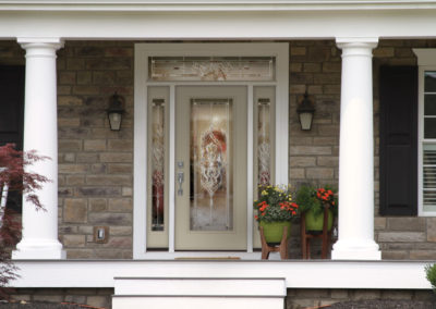 Beige Entry Door with Sidelights